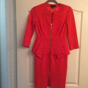 Ted Baker quarter sleeve zip up dress